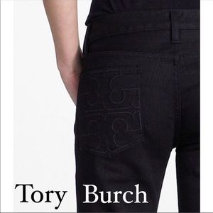 Tory Burch Sz 24 Black Super Skinny Jeans